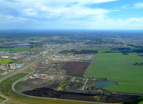 Aerial View of The County