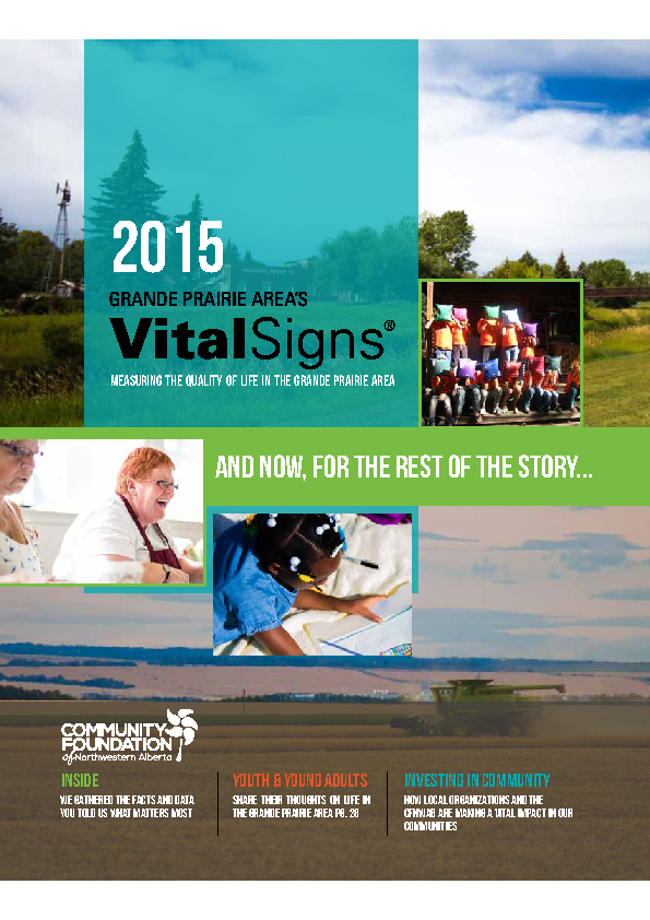 Community Foundation – Vital Statistics – 2015