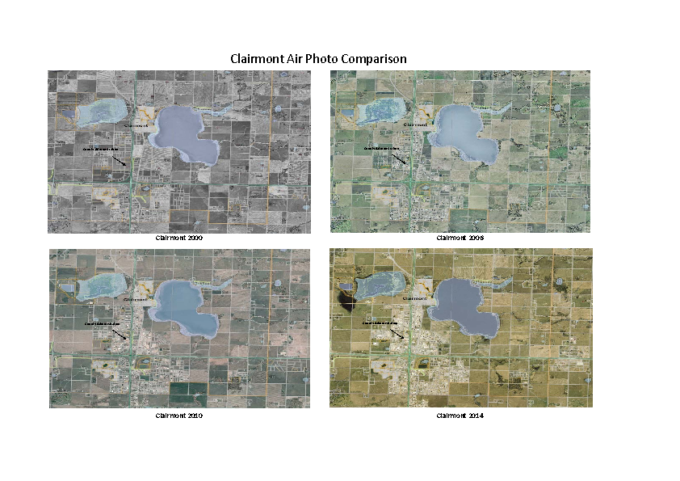 County of Grande Prairie – Aerial photo comparative 2000 to 2014