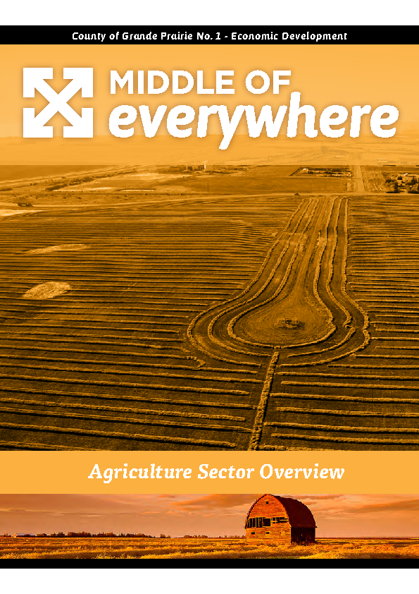 County of Grande Prairie – Agriculture Brochure