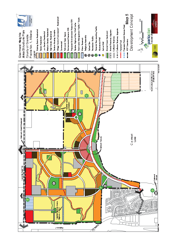 County of Grande Prairie – Clairmont Heights Zoning Map