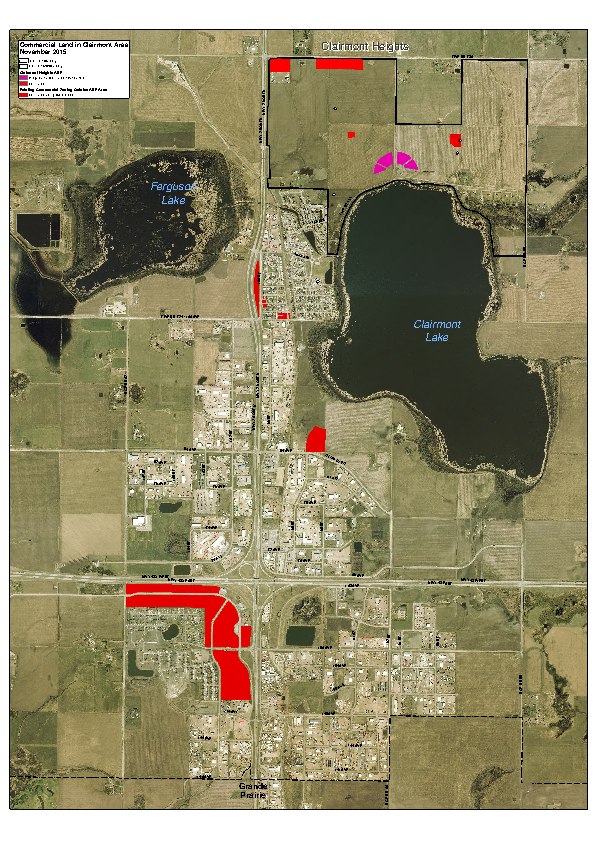 County of Grande Prairie – Land Use Zoning Map – Zoned Commercial – Nov 2015