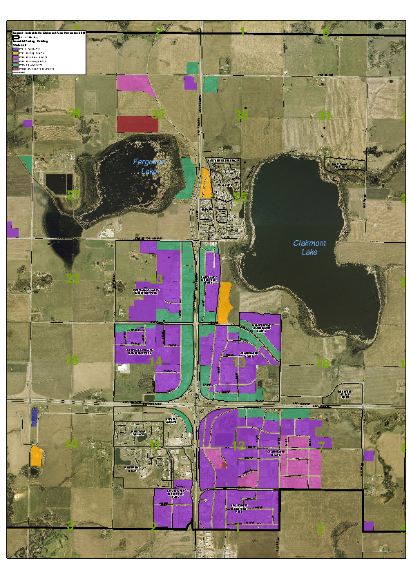 County of Grande Prairie – Land Use Zoning Map – Zoned Industrial – Nov 2015
