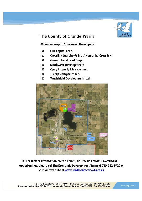 County of Grande Prairie – Sponosrship Package – January 2016