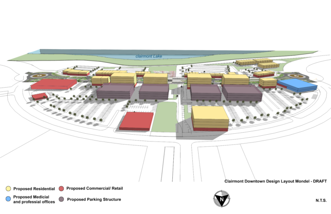 WSP – Preliminary Clairmont Village Core Sotth view
