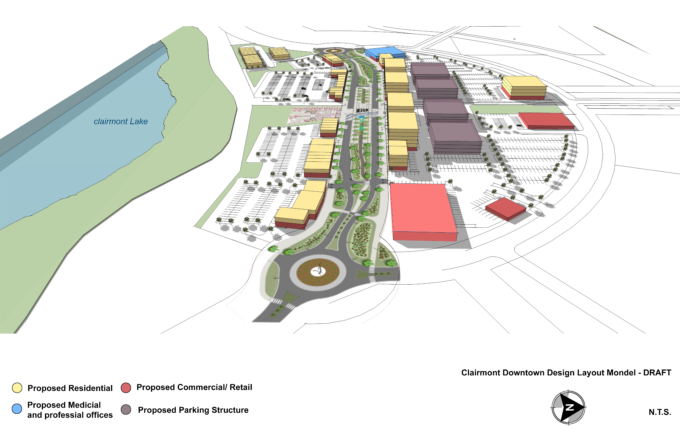 WSP – Preliminary Clairmont Village Core West View